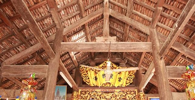 Vỉ kèo suốt kết hợp cọc bằng tại chùa An Thái – Quỳnh Lưu – Nhệ An