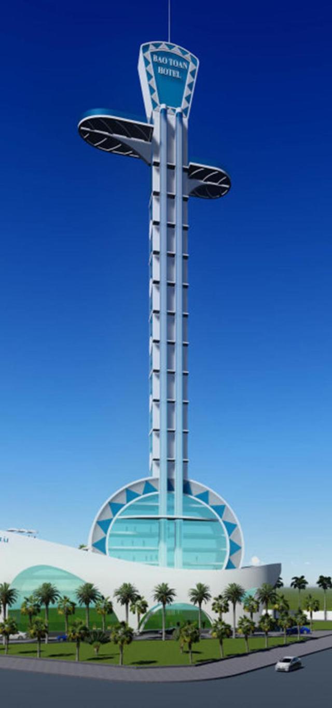 Phối cảnh dự án khách sạn 5 sao hình cây đờn kìm của Công ty cổ phần ôtô Bảo Toàn - Ảnh do chủ dự án cung cấp