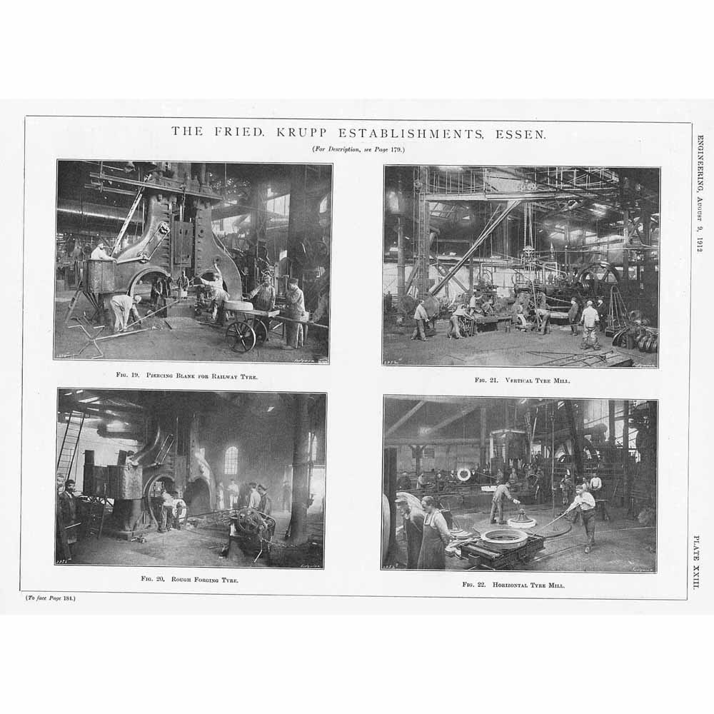 Ebay Essen Details About 1912 10x Antique Engineering Prints Fried Krupps Establishments In Essen