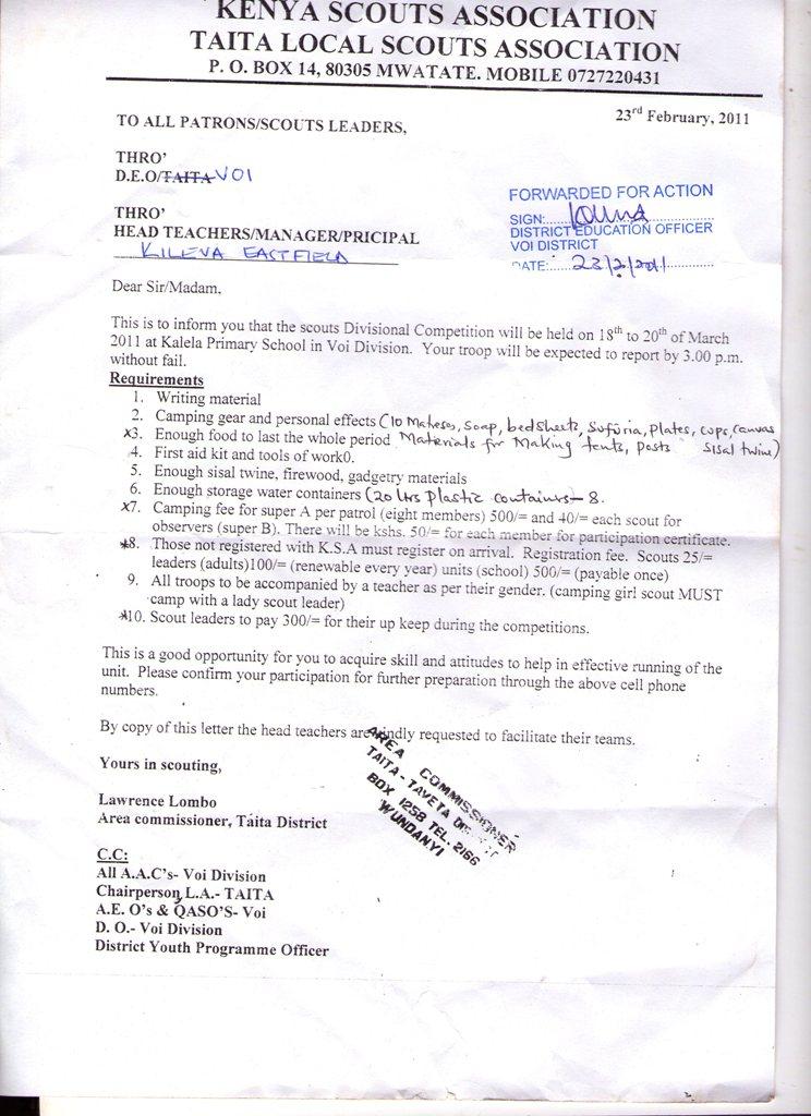 Invitation letter kenya resume pdf download invitation letter kenya letter of invitation kenya forum tripadvisor invitation letter stopboris Images