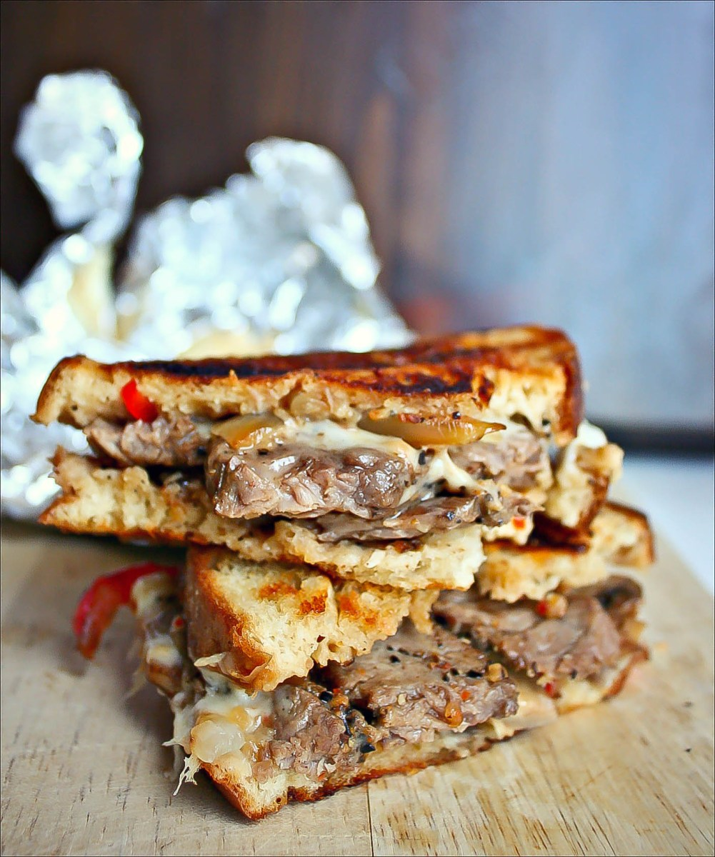 Philly Steak Grilled Cheese