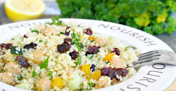 Chickpea and Raisin Couscous Salad