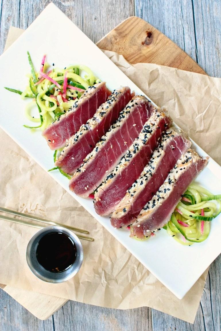 Sesame Crusted Ahi Tuna Steak - Killing Thyme Eat-Zine