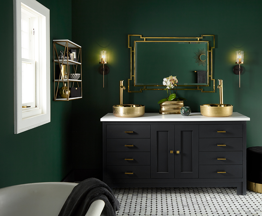 Moody Master Bathroom Makeover The Perfect Finish Blog By Kilz