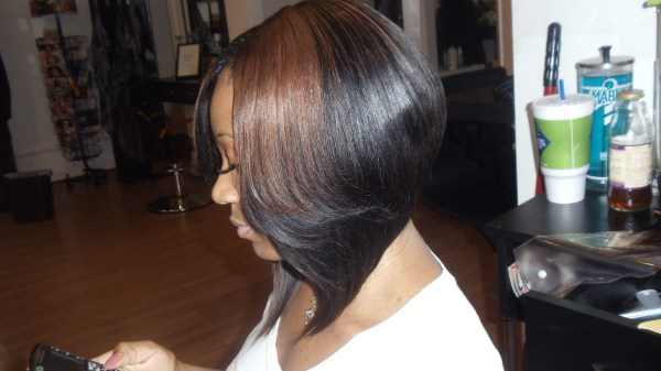 celebrity medium length bob hairstyle with weaves medium length bob . 1920 x 1080.Sew In Weave Bob Hairstyles With Bangs