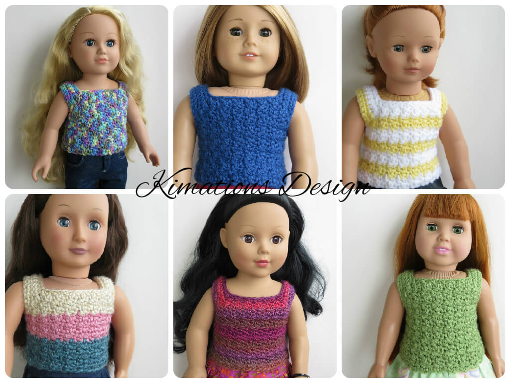 American Girl Patterned Tank Top | Kimations Design