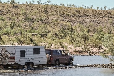 Towing a caravan on the Gibb River Road