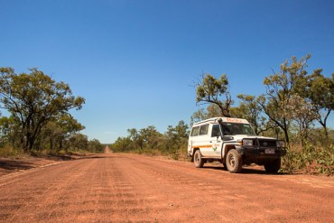 Good conditions along the Kalumbaru Road - this road can get very corrugated late in the dry season