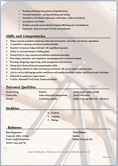 carpenter resume template \u2013 brianhansme