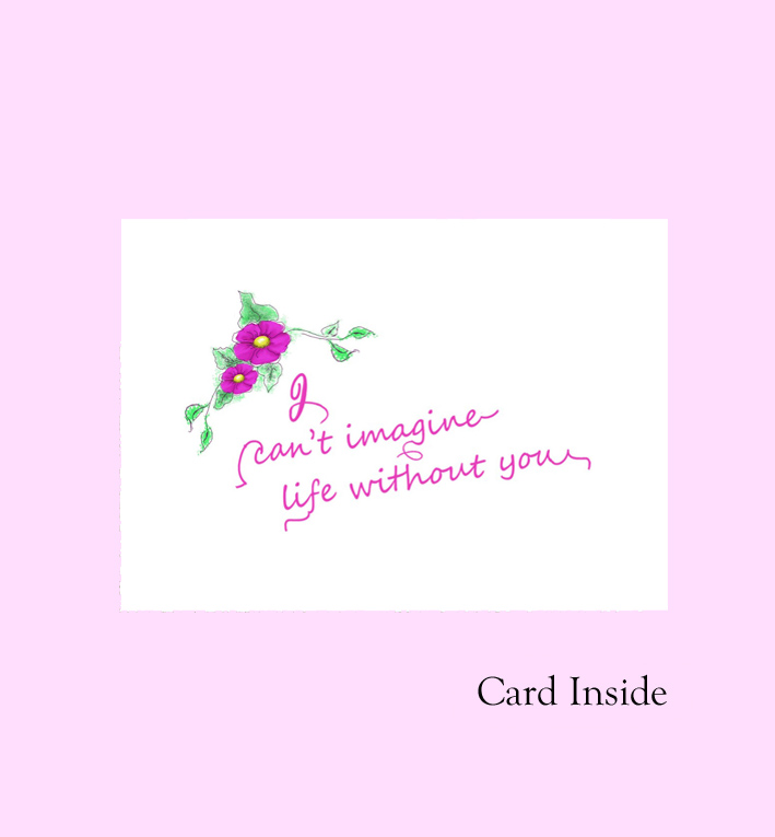 Mother\u0027s day card Mom word fuchsia inside ~ Kim  Ink