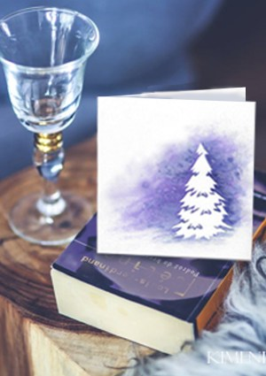 Aurora Lights card on book image Etsy