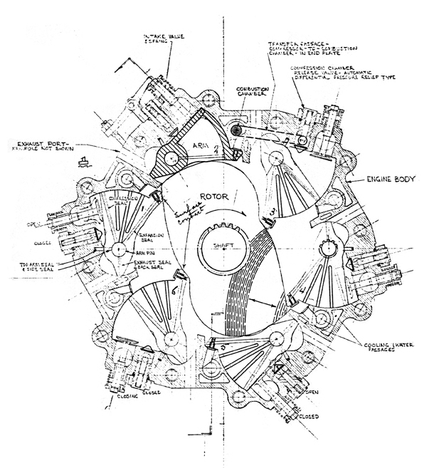 radial engine diagram