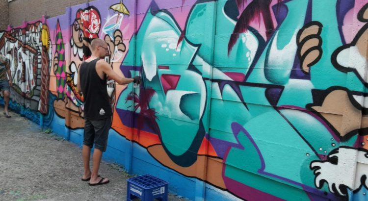 Graffiti bij KingKool