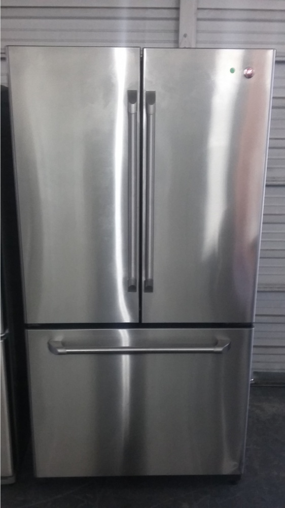 "Standard Washer And Dryer Depth Ge 36"" Stainless Steel Counter Depth French Door"