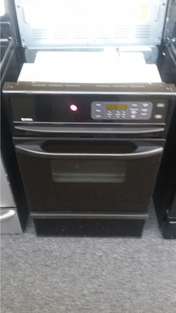 "Standard Washer And Dryer Depth Kenmore 24"" Black Gas Wall Oven *out Of Stock* - Kimo's"