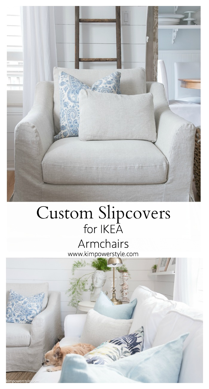 Ikea Farlov Custom Slipcovers For My Ikea Armchairs - Kim Power Style