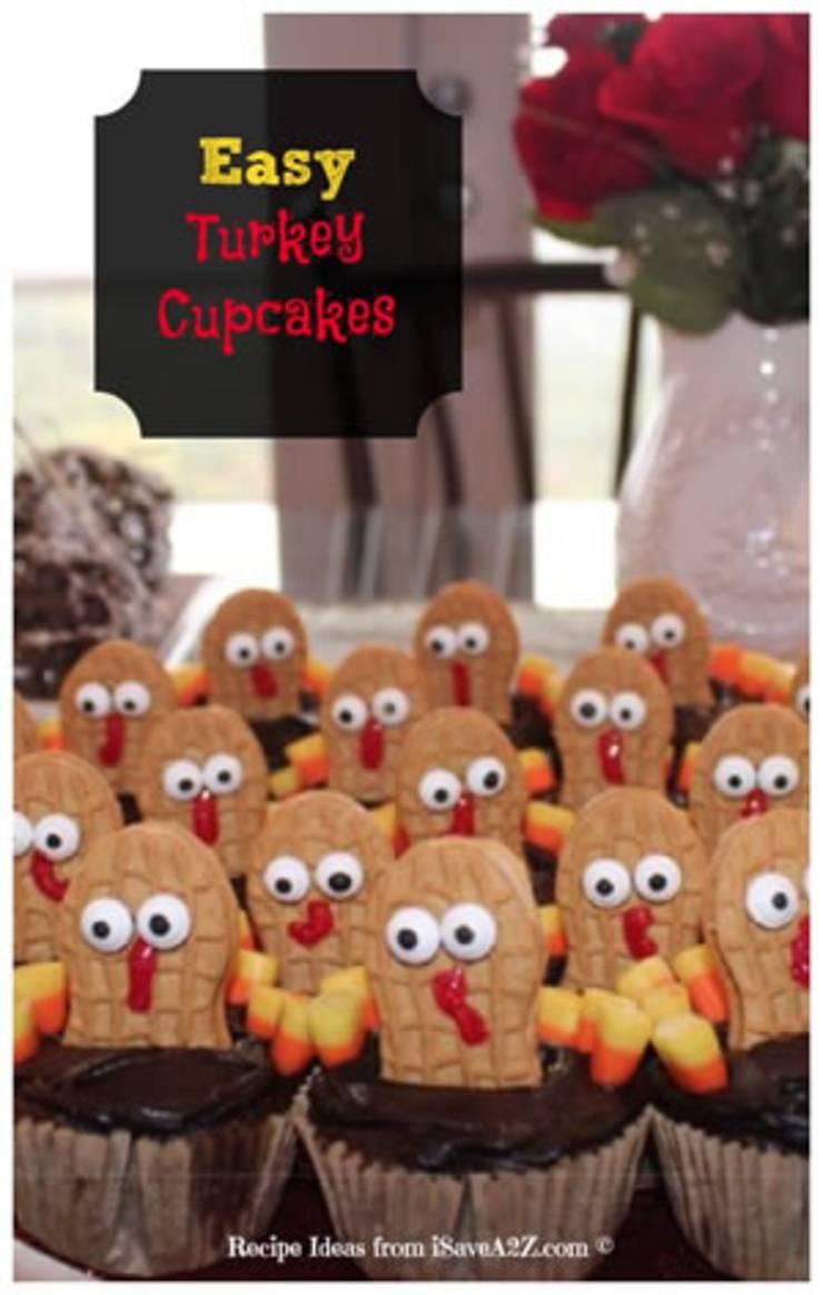 21 Cute Thanksgiving Cupcakes