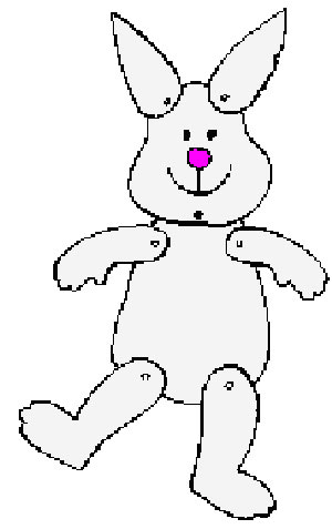 Bunny Puppet Printable Craft for Easter - Monthly Seasonal Crafts