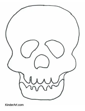 Day of the Dead Mask Coloring Page \u2013 KinderArt