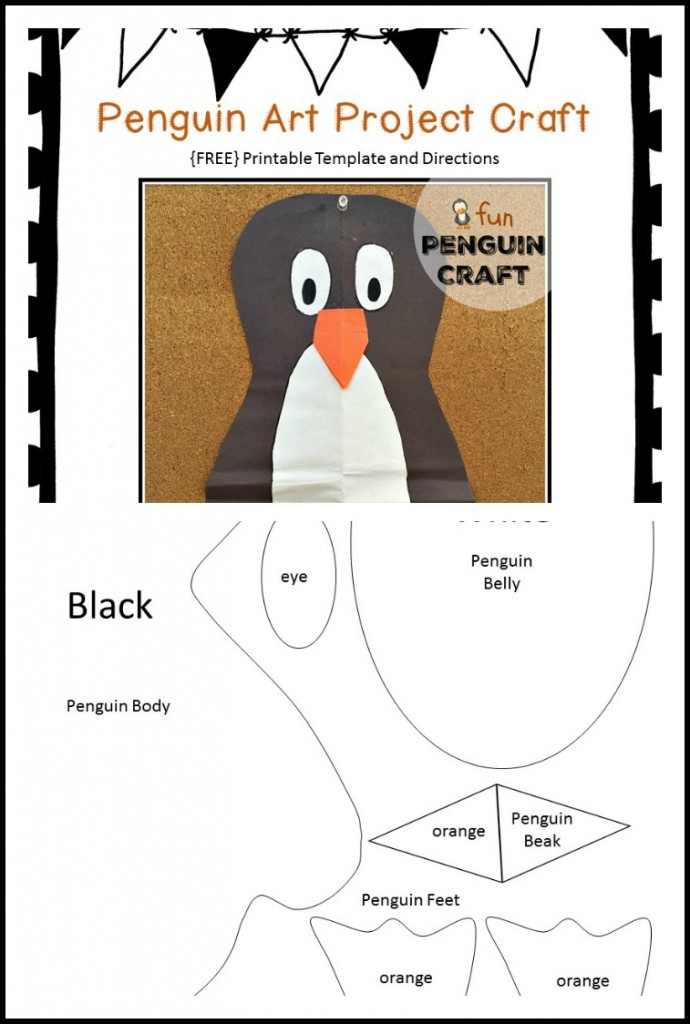 Penguin Week in Kindergarten - Kindergarten Chaos - penguin template