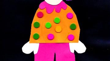 clown craft for kindergarten