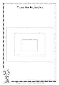 Rectangle tracing worksheet 2