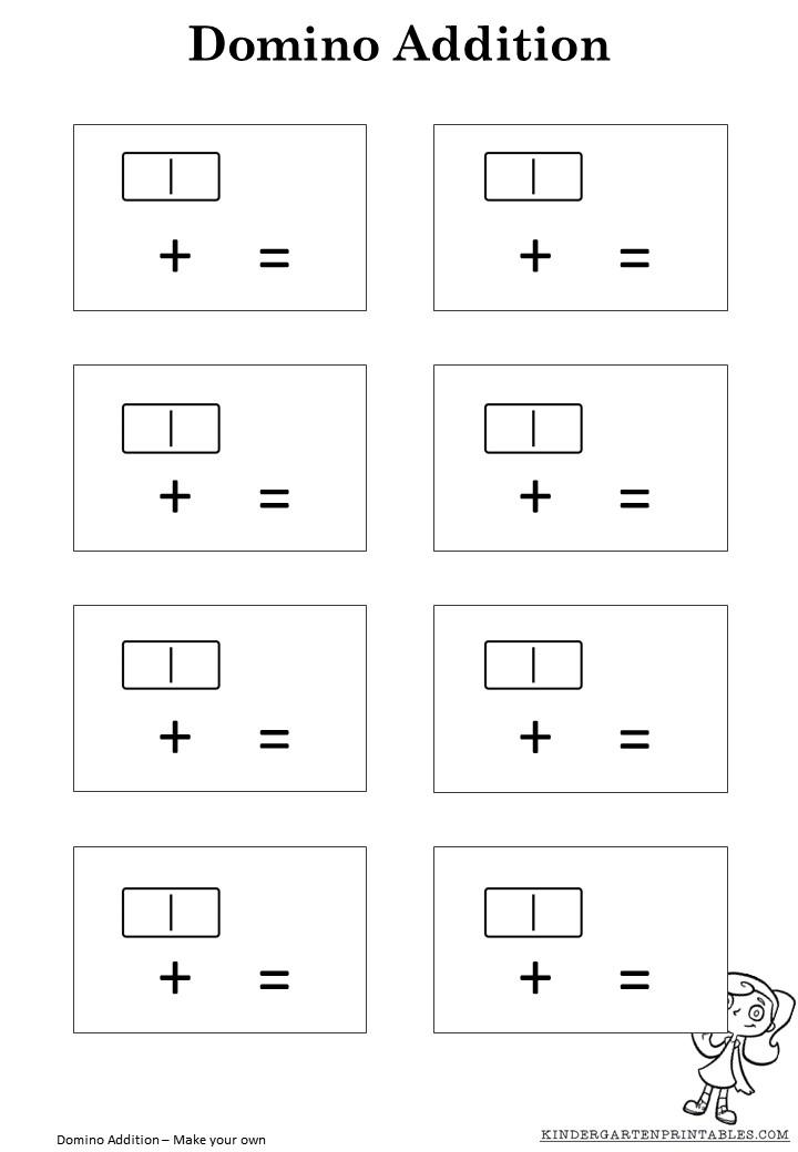 math worksheet : domino addition worksheet template  kindergarten printables : Domino Addition Worksheet