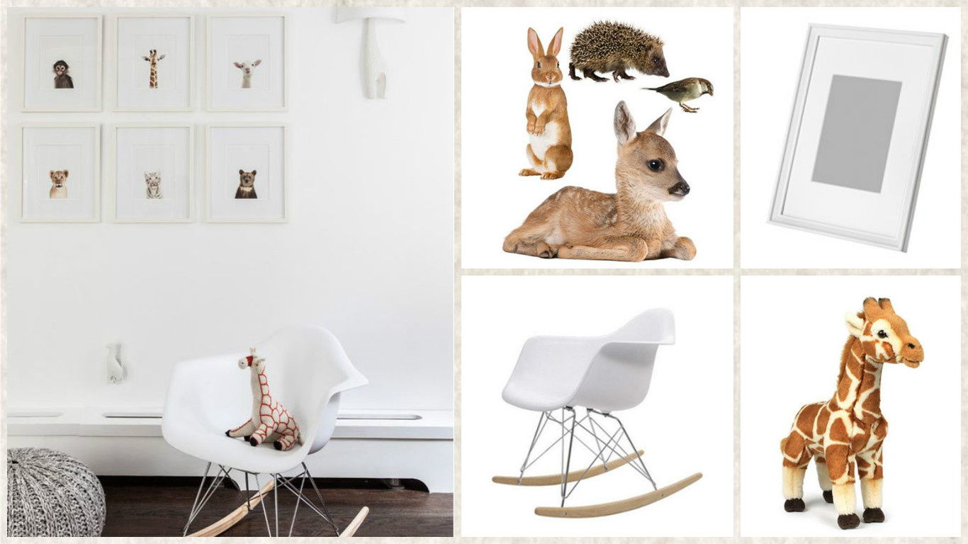Behang Kinderkamer Dieren Shop The Look: Babykamer Baby Dieren ⋆ Kinderkamer Styling