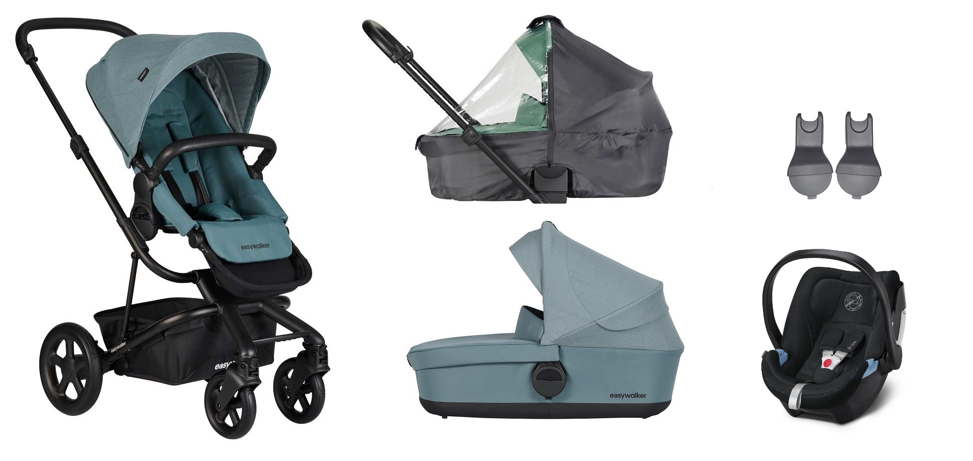 Babyschale Cybex Flugzeug Easywalker Harvey 2 Kinderwagen 3 In 1 Set Mit Cybex Babyschale