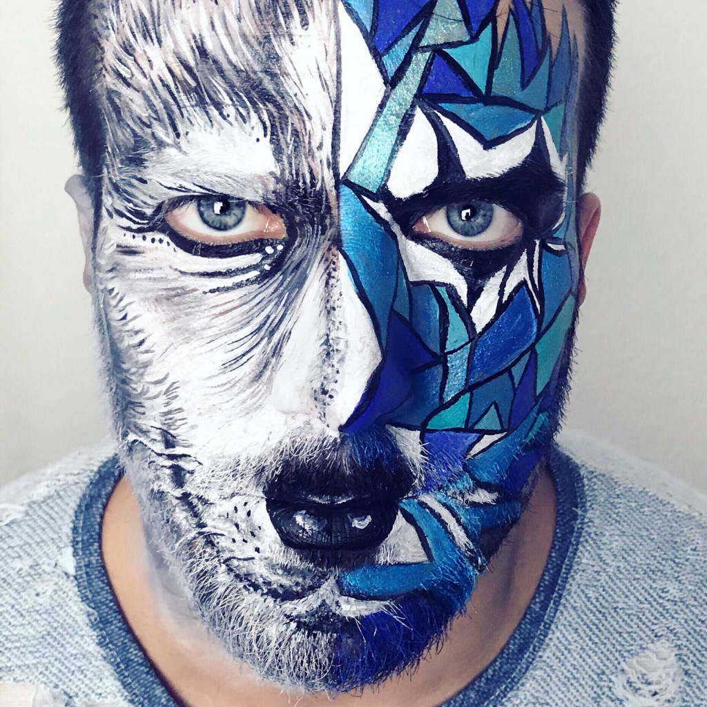 Kinderschminken Wolf Facepaintings Kinderschminken Portrait Fotos