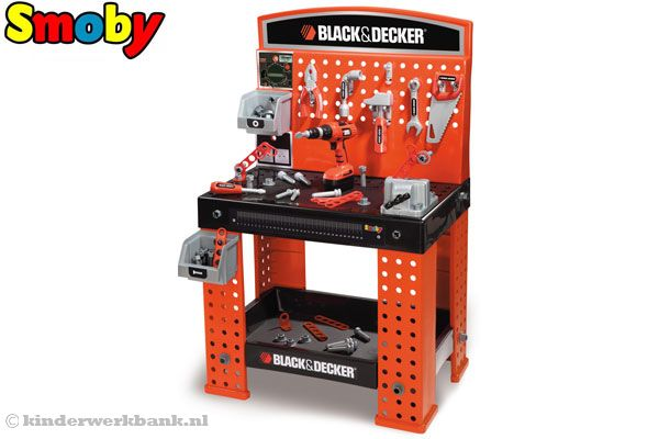 Black En Decker Klopboormachine Smoby Black & Decker Super Center | Kinderwerkbank.nl