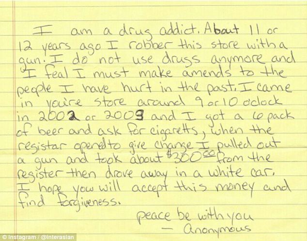 Ex-Drug Addict Hands Over Apology Note \u2013 Kindness Blog - apology letter to family