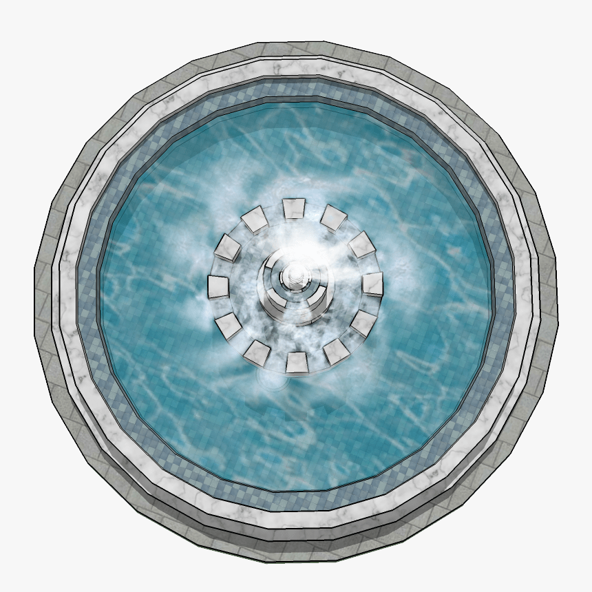 Transparent Fountain Water Png Water Fountain Top View