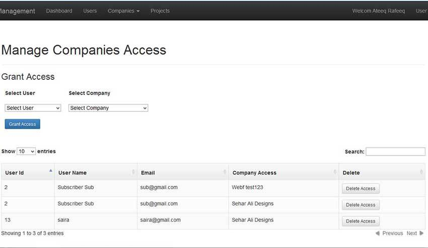 PHP Project Management System Kinetic Technologiez - access project management