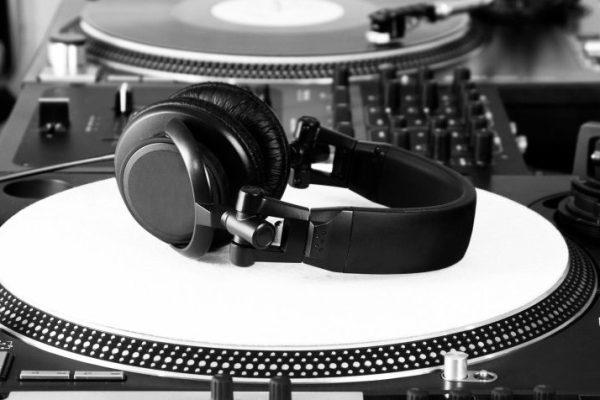 High-class audio gear for hip-hop disc jockey