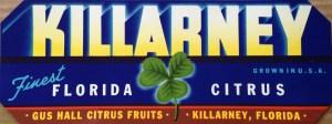 Gus Hall Citrus Fruits Clover label