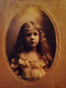 Florence Hauk, age 8 yrs. old  1903 possibly 1908