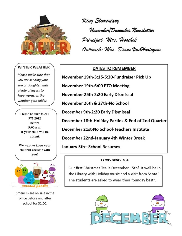 School Newsletters - King Elementary School