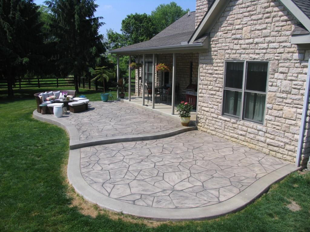 Stamped Concrete Driveways Patios Walkwayspool Deck And