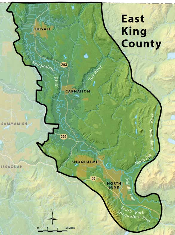 Tax Records East King County Groundwater Management Area Map - King County