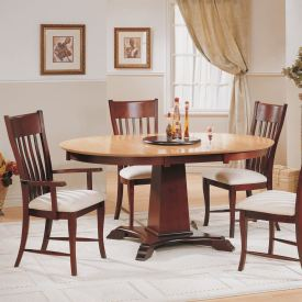 Pillar Base Round Dining Set