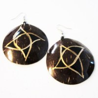 Coconut Shell Earrings  KINGDOM FINDS