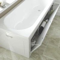 Cooke & Lewis Gloss White Bath Front Panel | Departments ...
