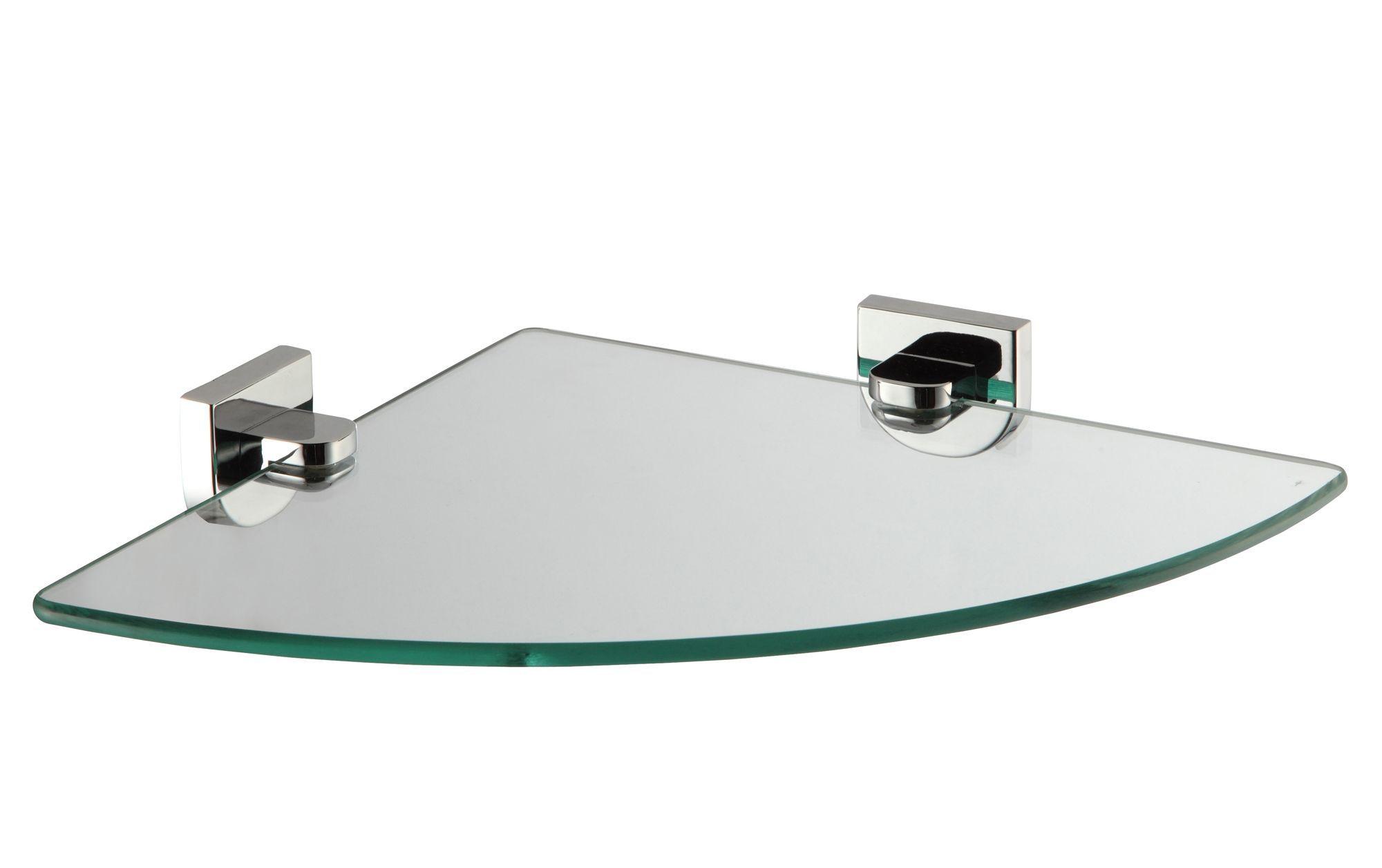 Axis Glass Corner Shelf L268mm D268mm Departments