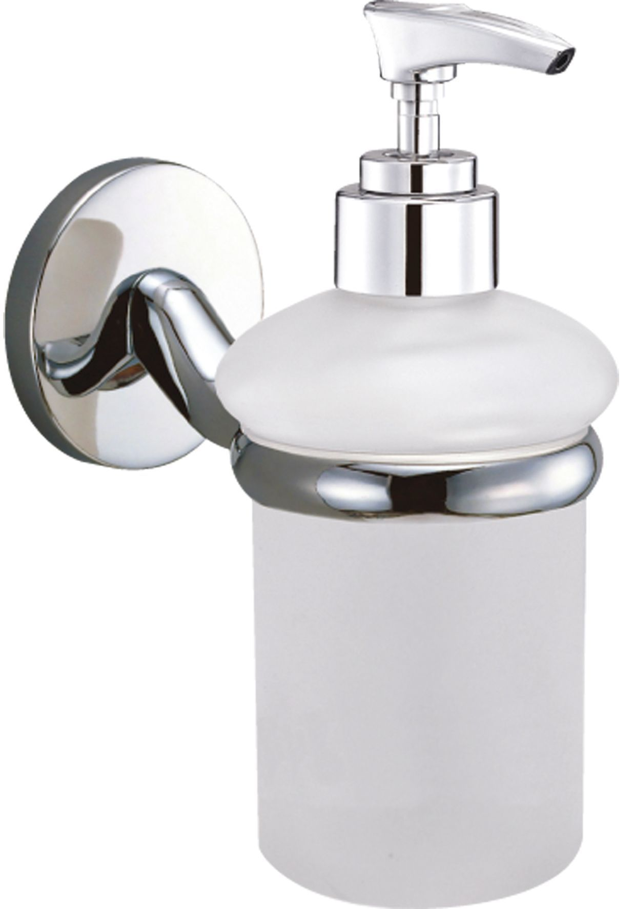 Wall Mounted Soap Dispenser B Andq Curve White Chrome Effect Wall Mounted Soap Dispenser