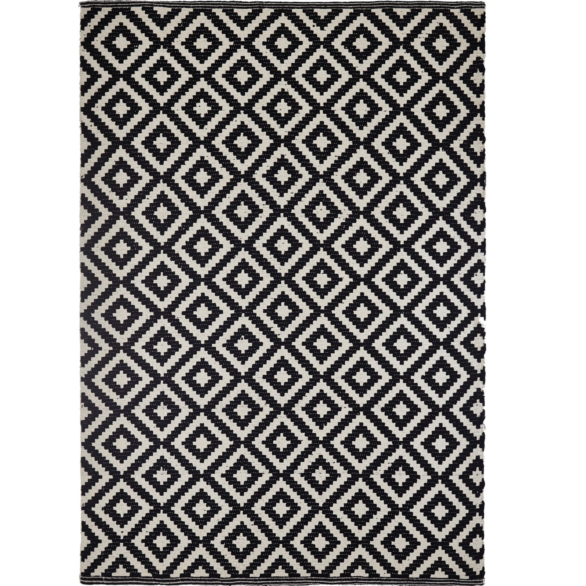 Alfombras 3m Colours Harrietta Black And White Geometric Rug L 2 3m W 1