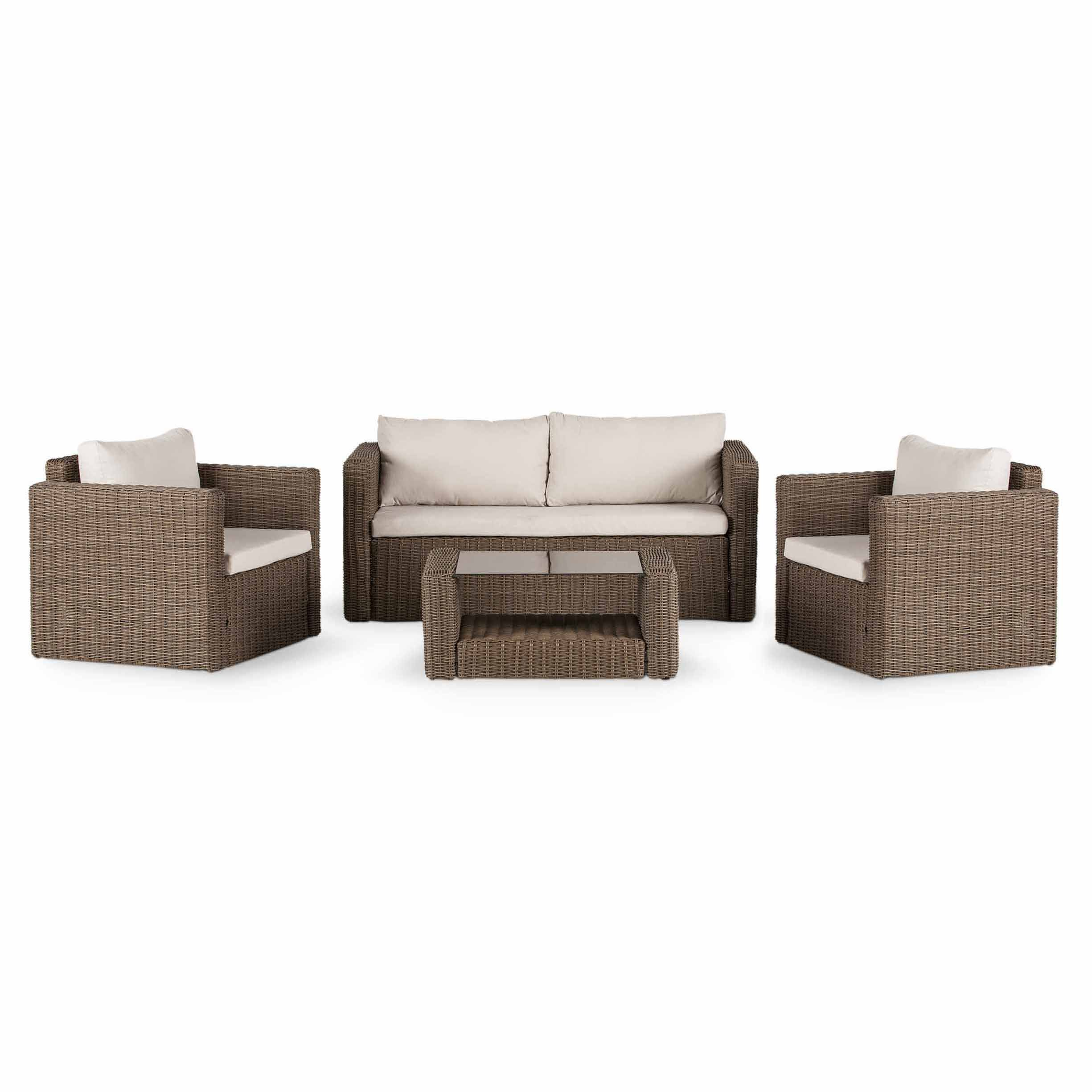 Soron Rattan Sofa B&q Soron Rattan 4 Seater Coffee Set Departments Diy At B Andq