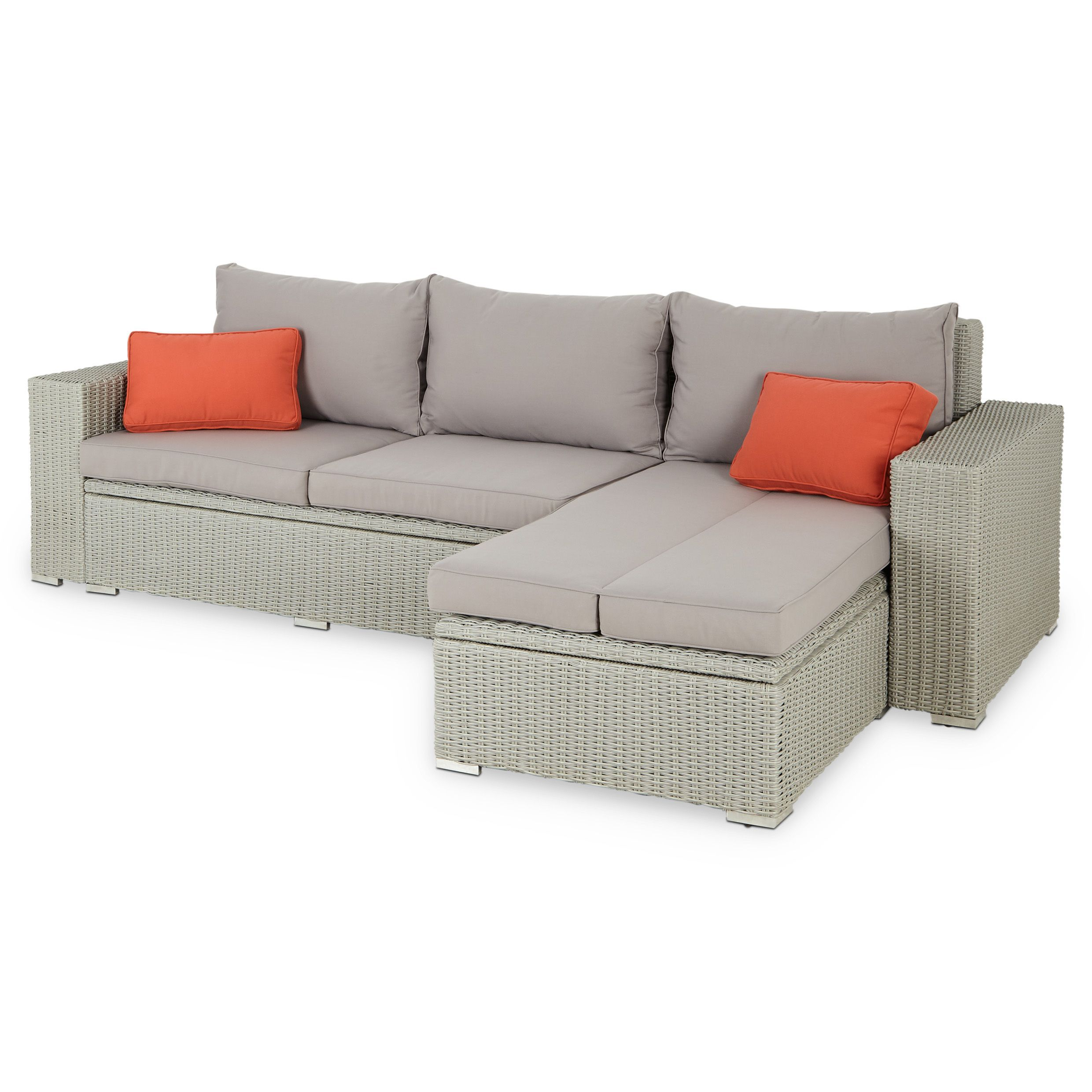 Rattan Effect Recliner Sofa Gabbs Colour Group Grey Rattan Effect Garden Sofa Pack