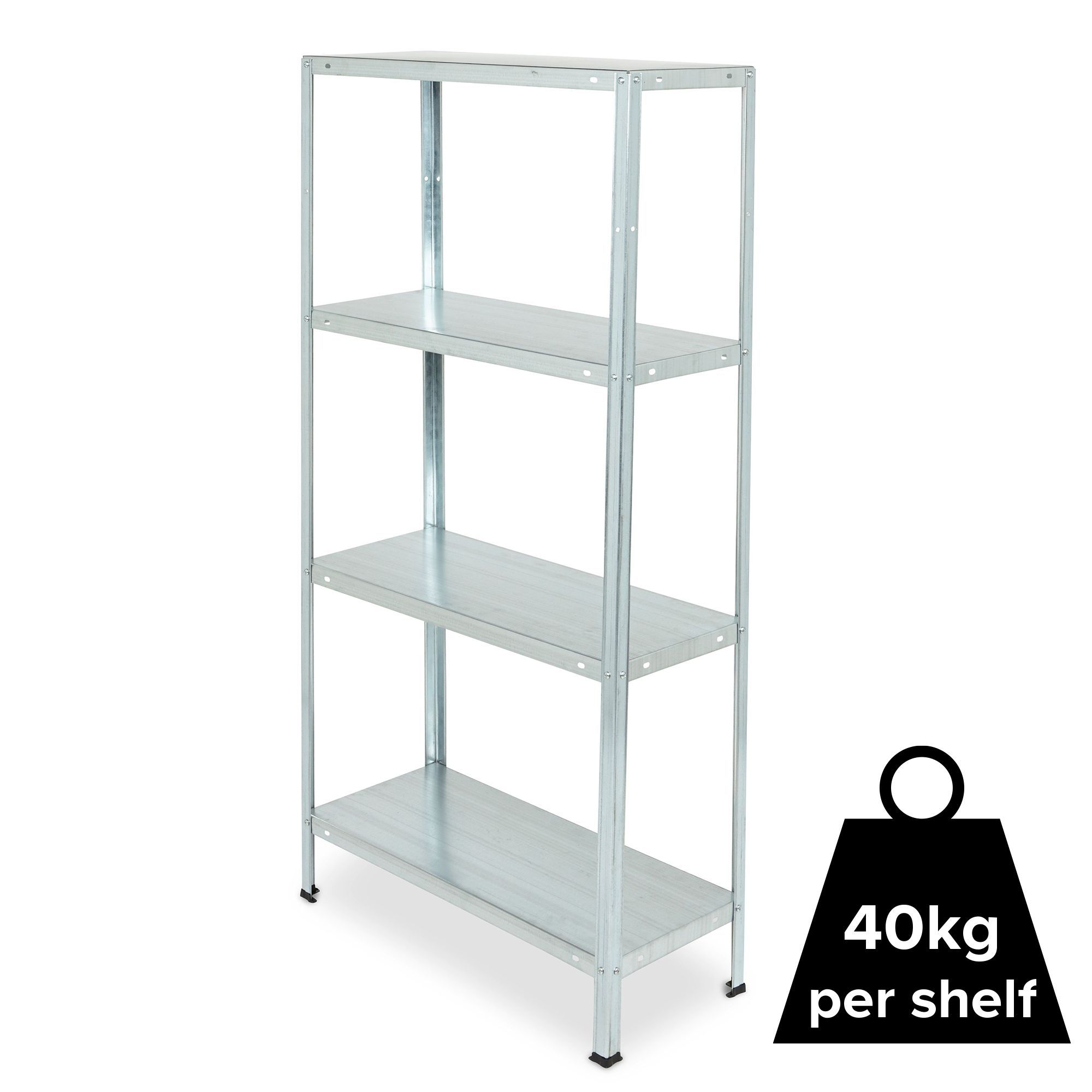 Metal Shelving 4 Shelf Steel Shelving Unit Departments Diy At B Q