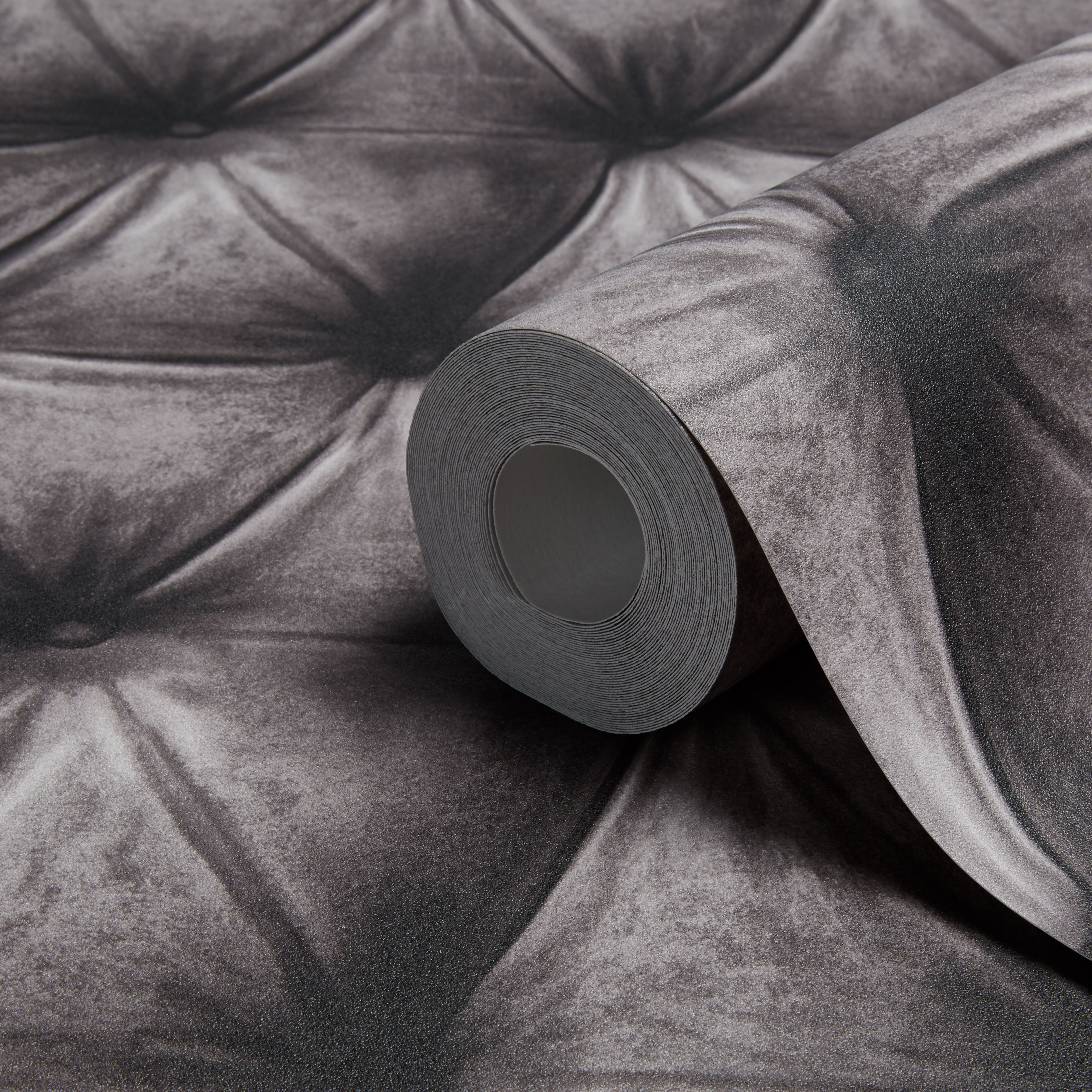 3d Effect Wallpaper For Living Room A S Creation New England Grey Padded Leather Effect
